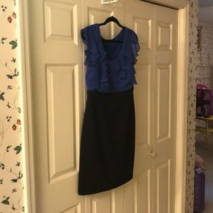 Maurice's black and blue dress